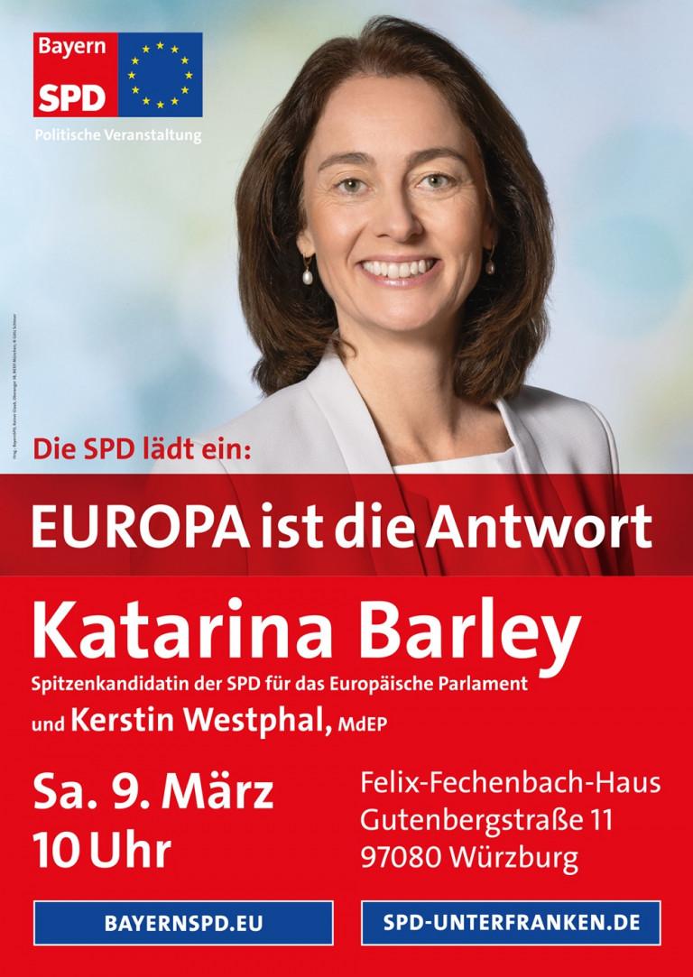 SPD Spitzenkandidatin Katarina Barley in Würzburg